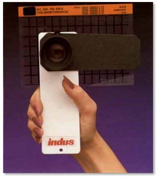 Indus ELITE hand-held microfiche reader